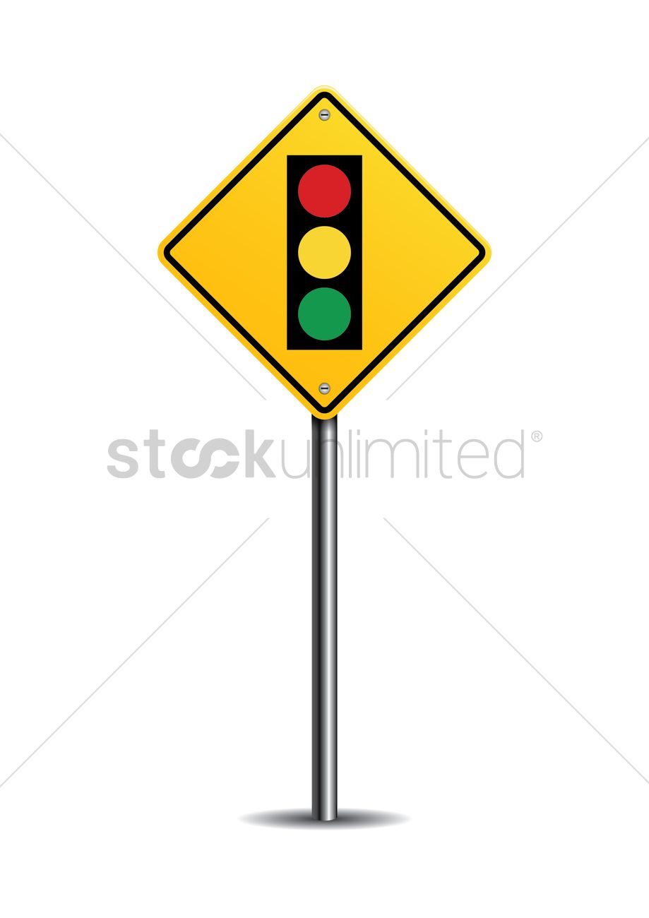 Traffic Signal Ahead Sign Vector Image 1545117 Stockunlimited