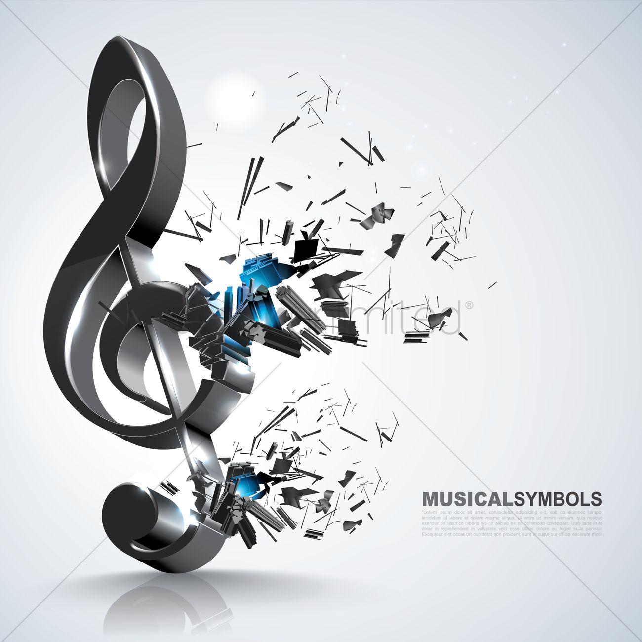 Treble Clef Music Symbol Vector Image 1591729 Stockunlimited