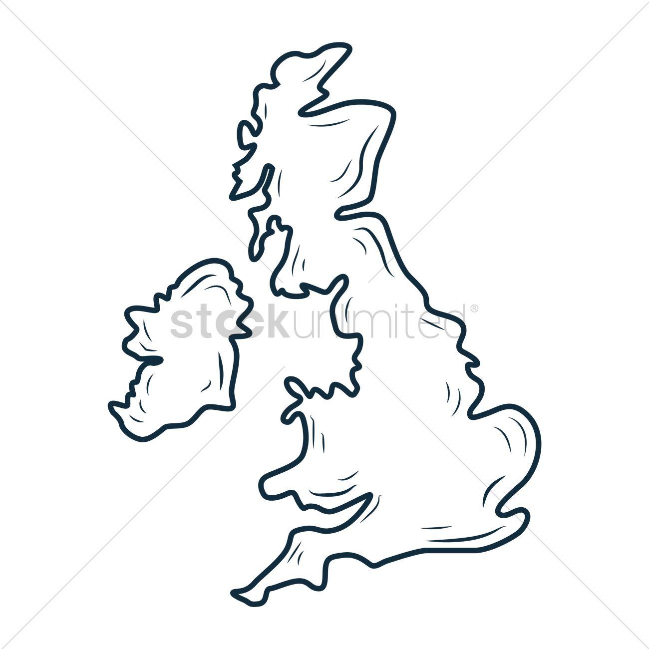 Line Drawing Uk : Free uk map vector image stockunlimited