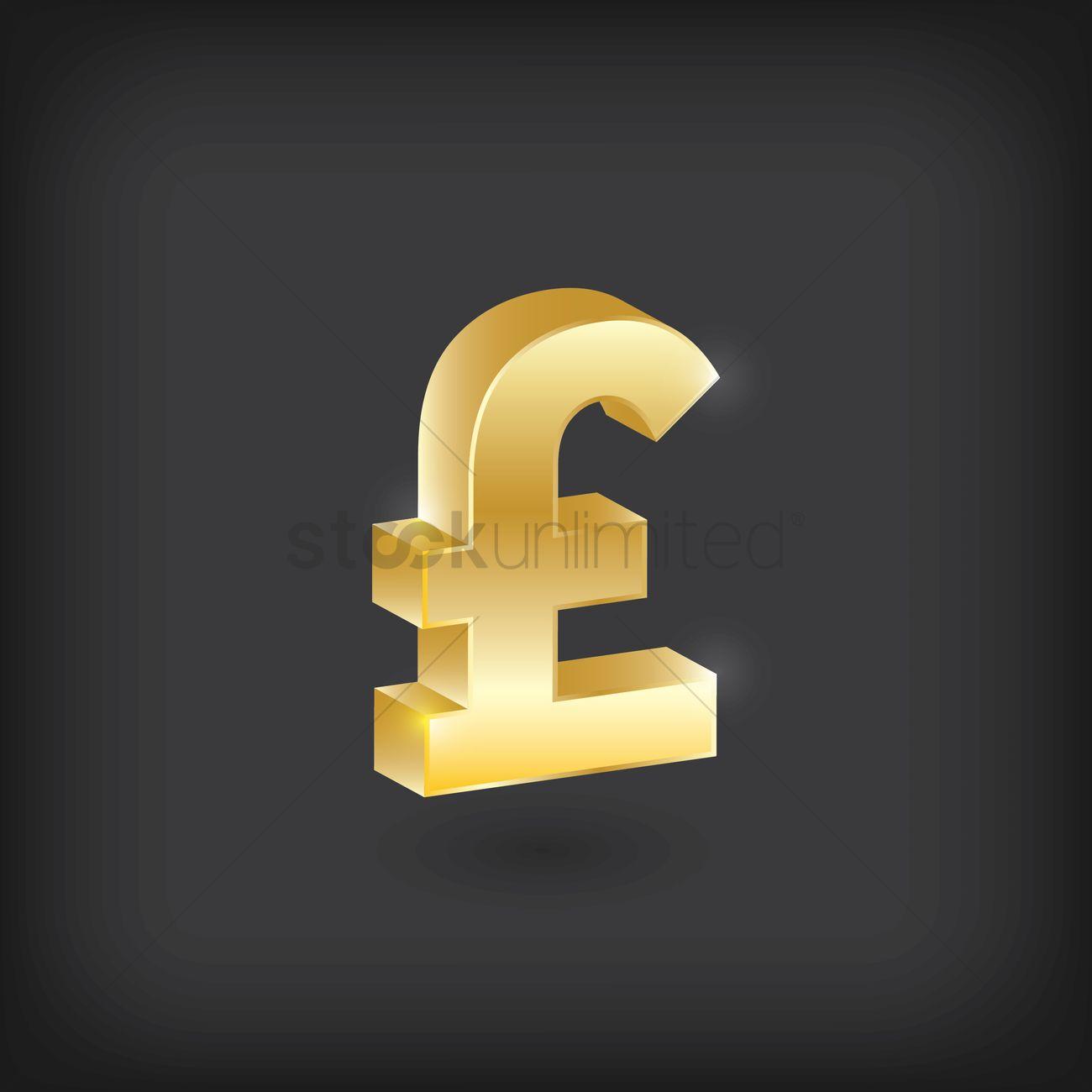 Uk Sterling Pound Symbol Vector Image 1870905 Stockunlimited