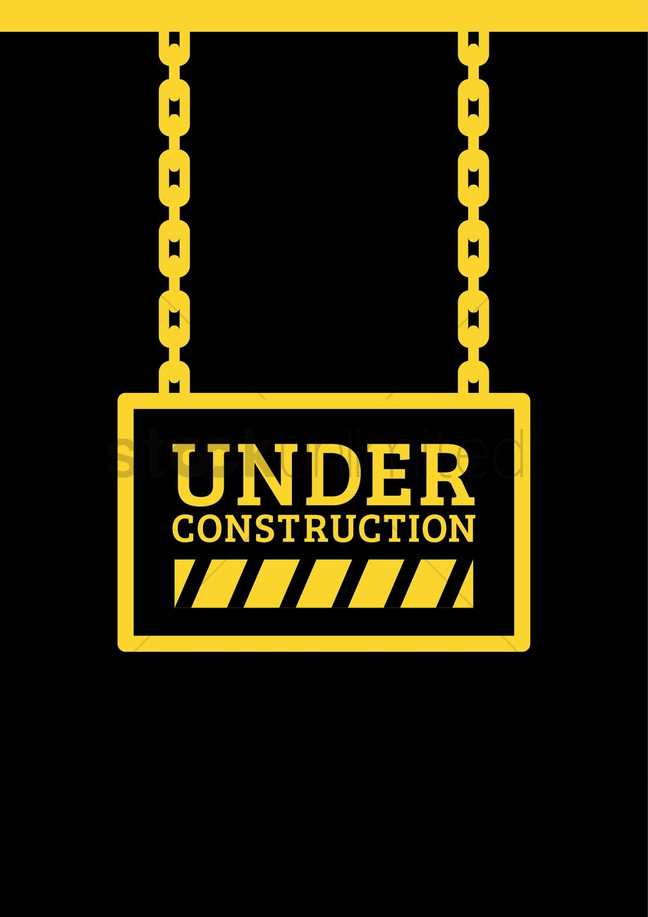 Under Construction Template Design Vector Image 2009545