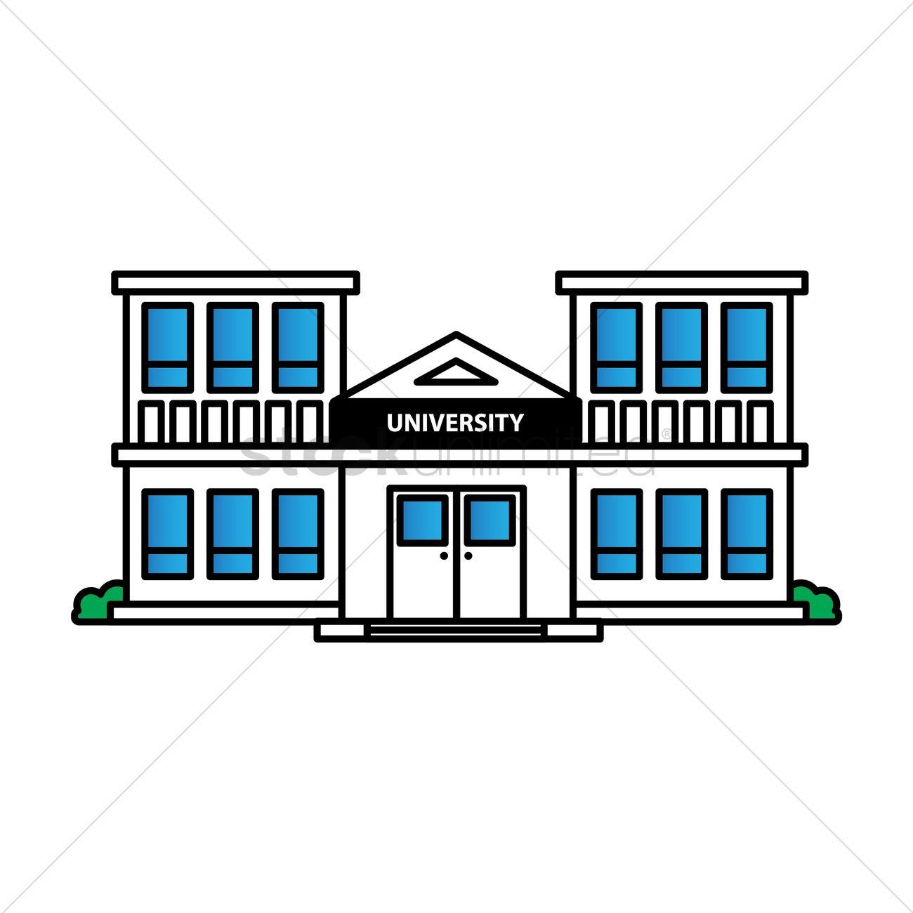 free university building vector image 1623553 stockunlimited rh stockunlimited com vector building free vector building silhouette