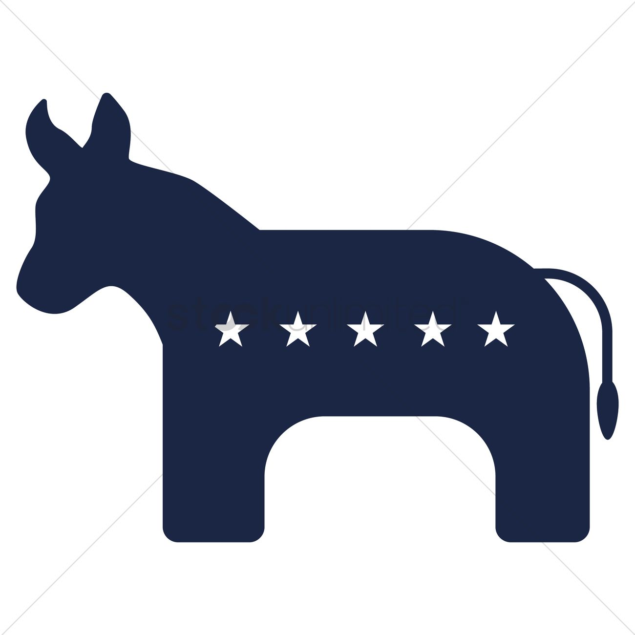 Usa Democrat Party Symbol Vector Image 1534297 Stockunlimited