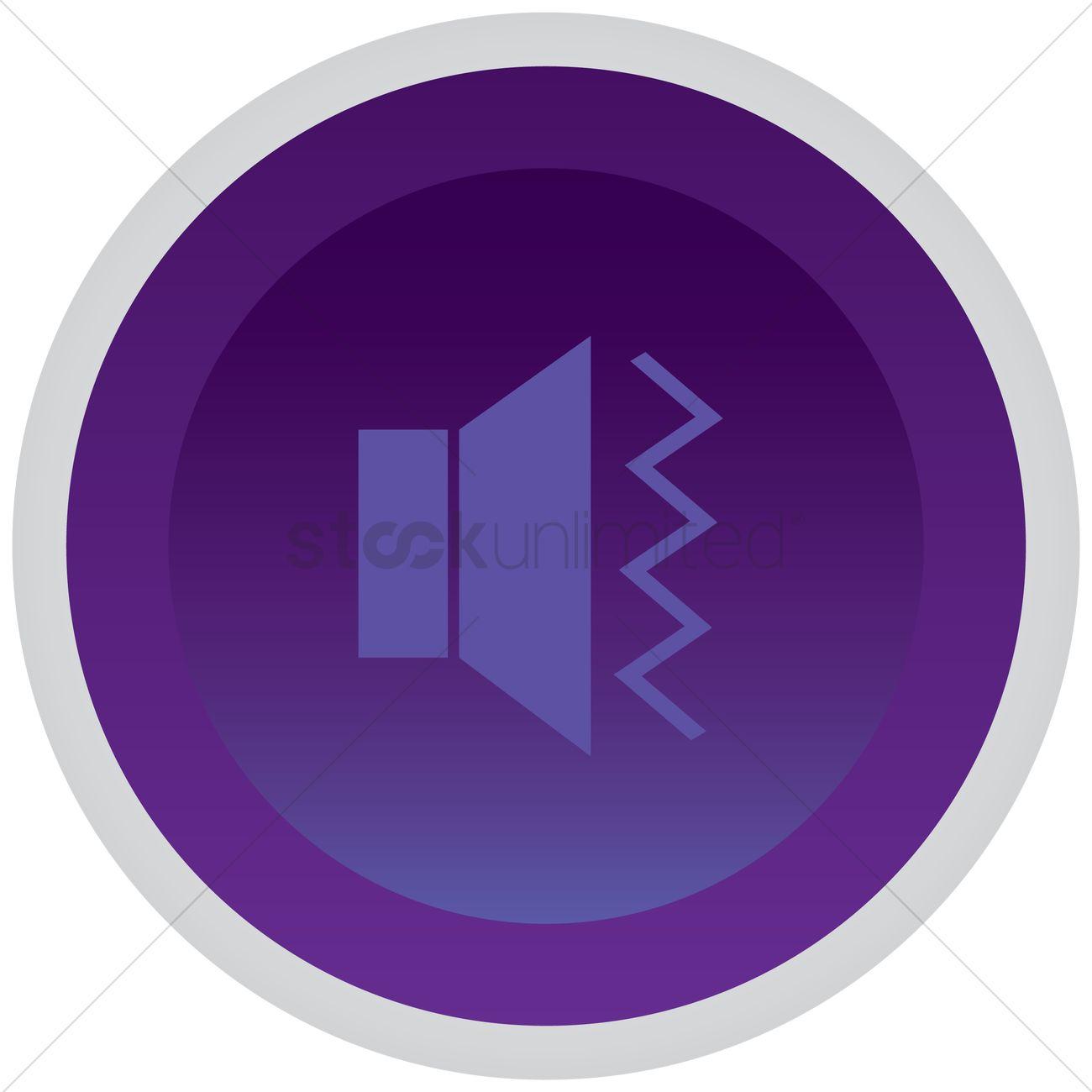 Vibration symbol button Vector Image - 1365905 | StockUnlimited