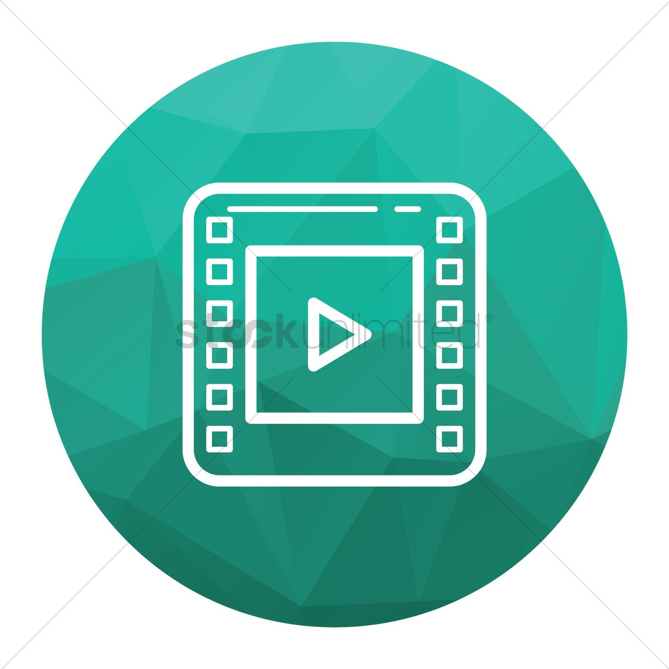 Video player icon Vector Image - 1814421 | StockUnlimited