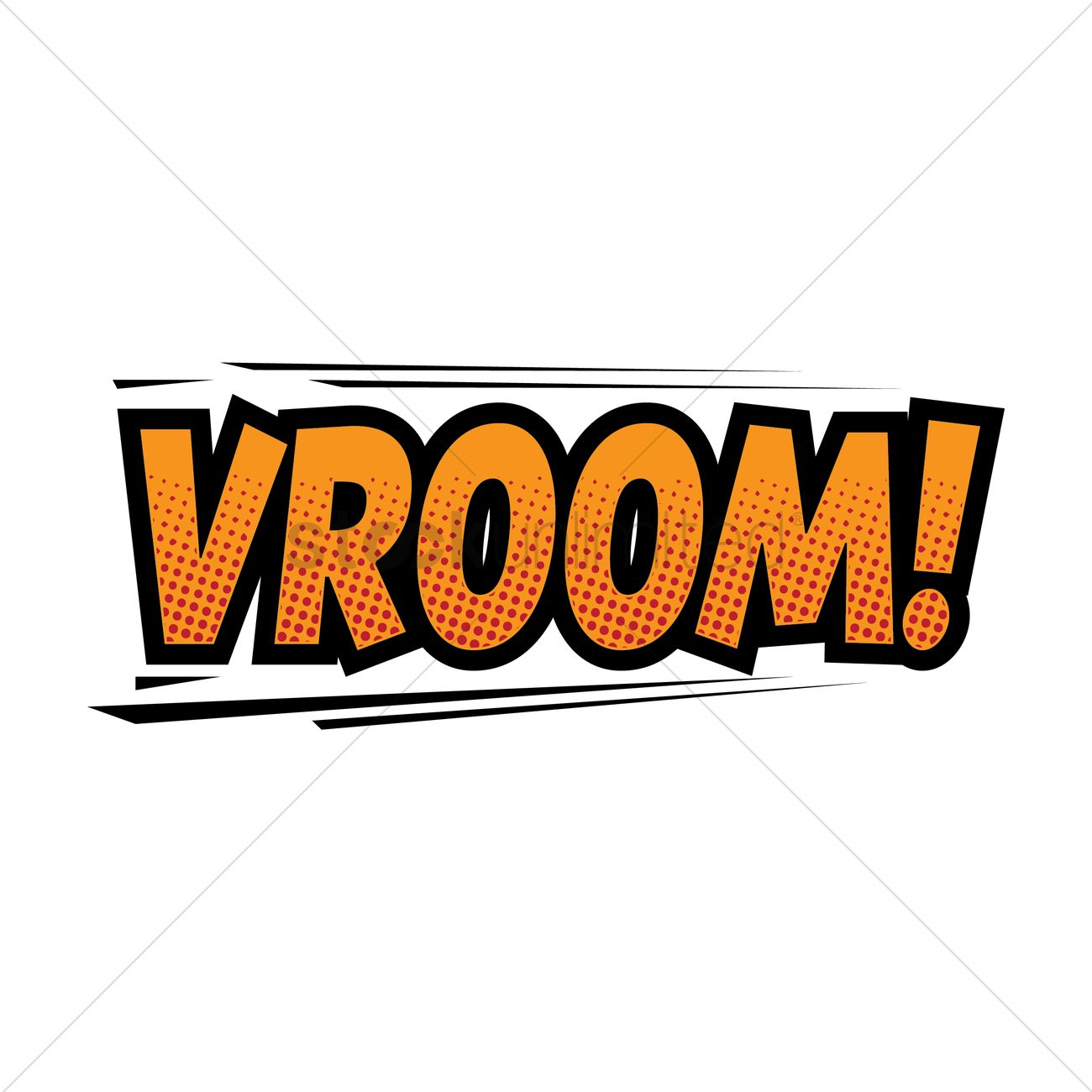 Vroom Comic Speech Vector Image 1825205 Stockunlimited