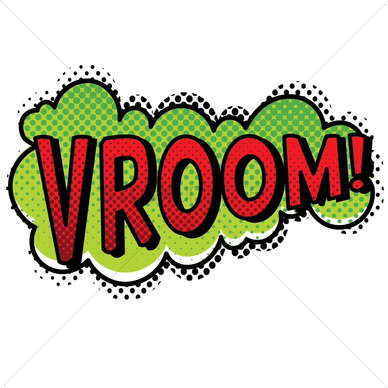 vroom text with comic effect vector image 1823033 ios text bubble vector iphone text bubble vector free