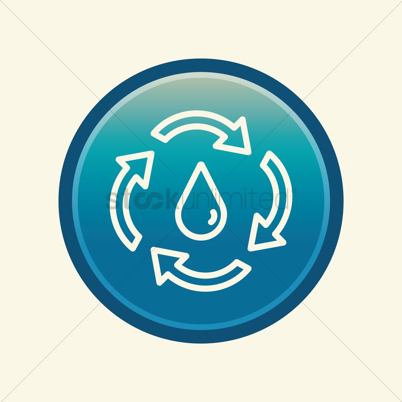 Water drop with recycle symbol Vector Image - 1548745