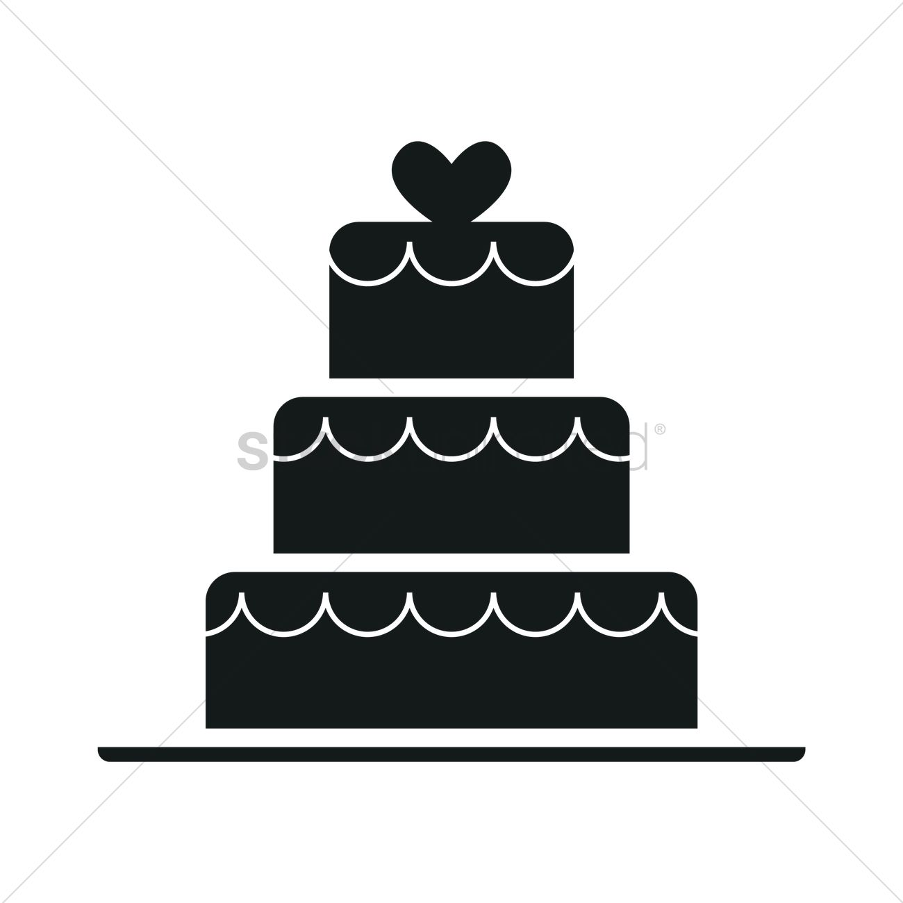 wedding cake silhouette vector image 1900593 stockunlimited
