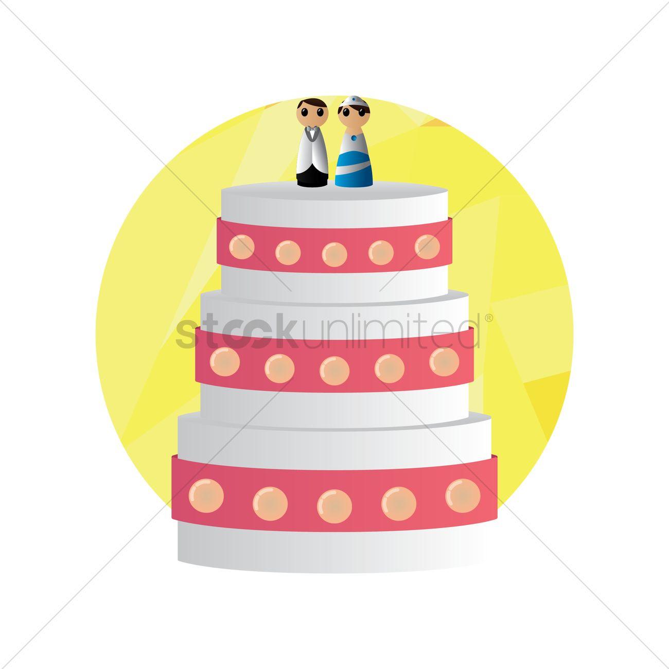 Wedding cake Vector Image - 1340201 | StockUnlimited