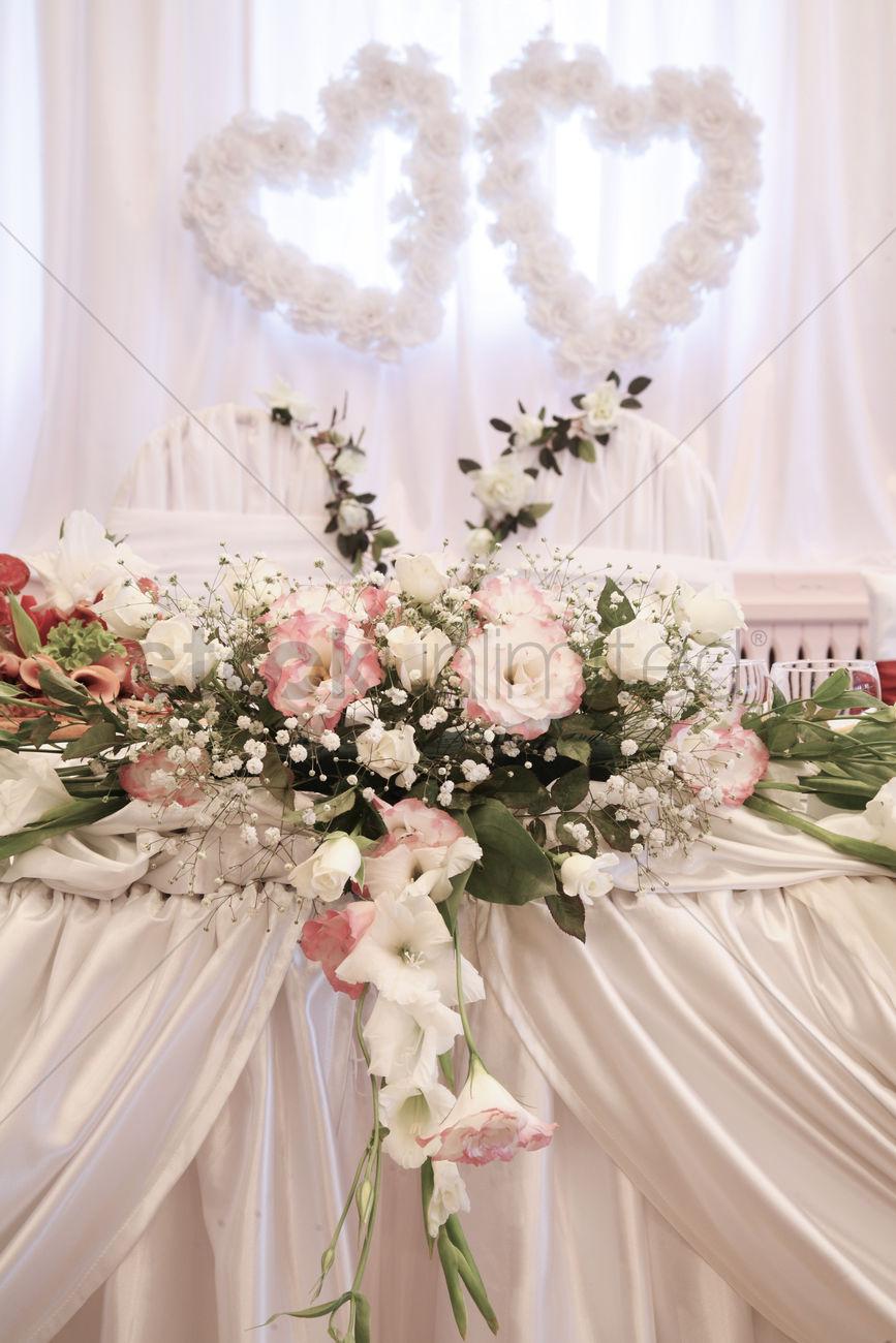 Wedding Decoration With Fresh Flowers Stock Photo 1932241