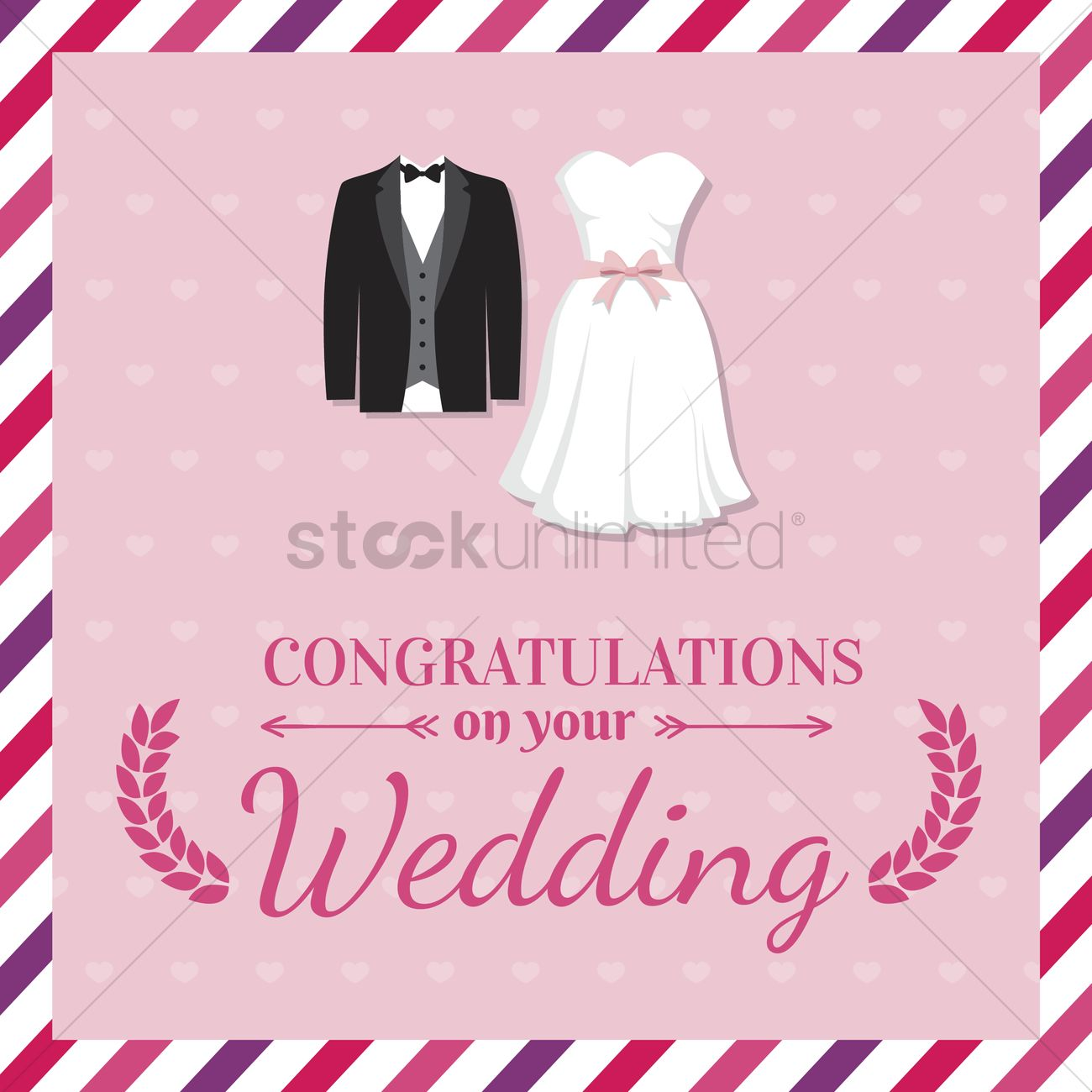 Wedding Greeting Card Vector Graphic
