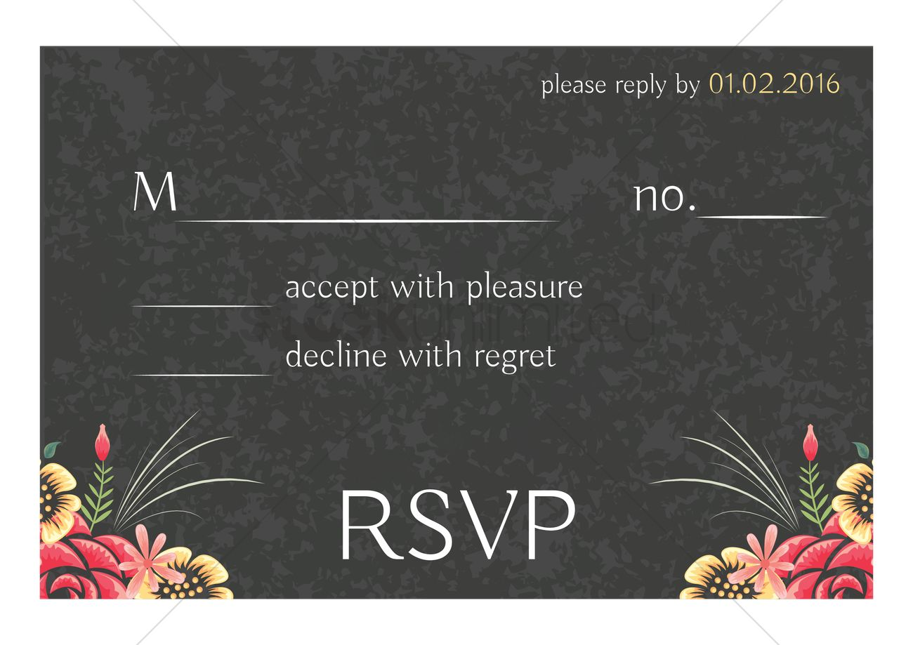 wedding invitation rsvp design vector image 1997377 stockunlimited