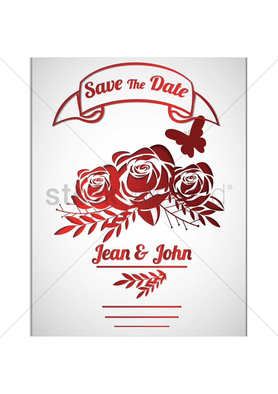 Wedding invitation Vector Image - 1825397 | StockUnlimited