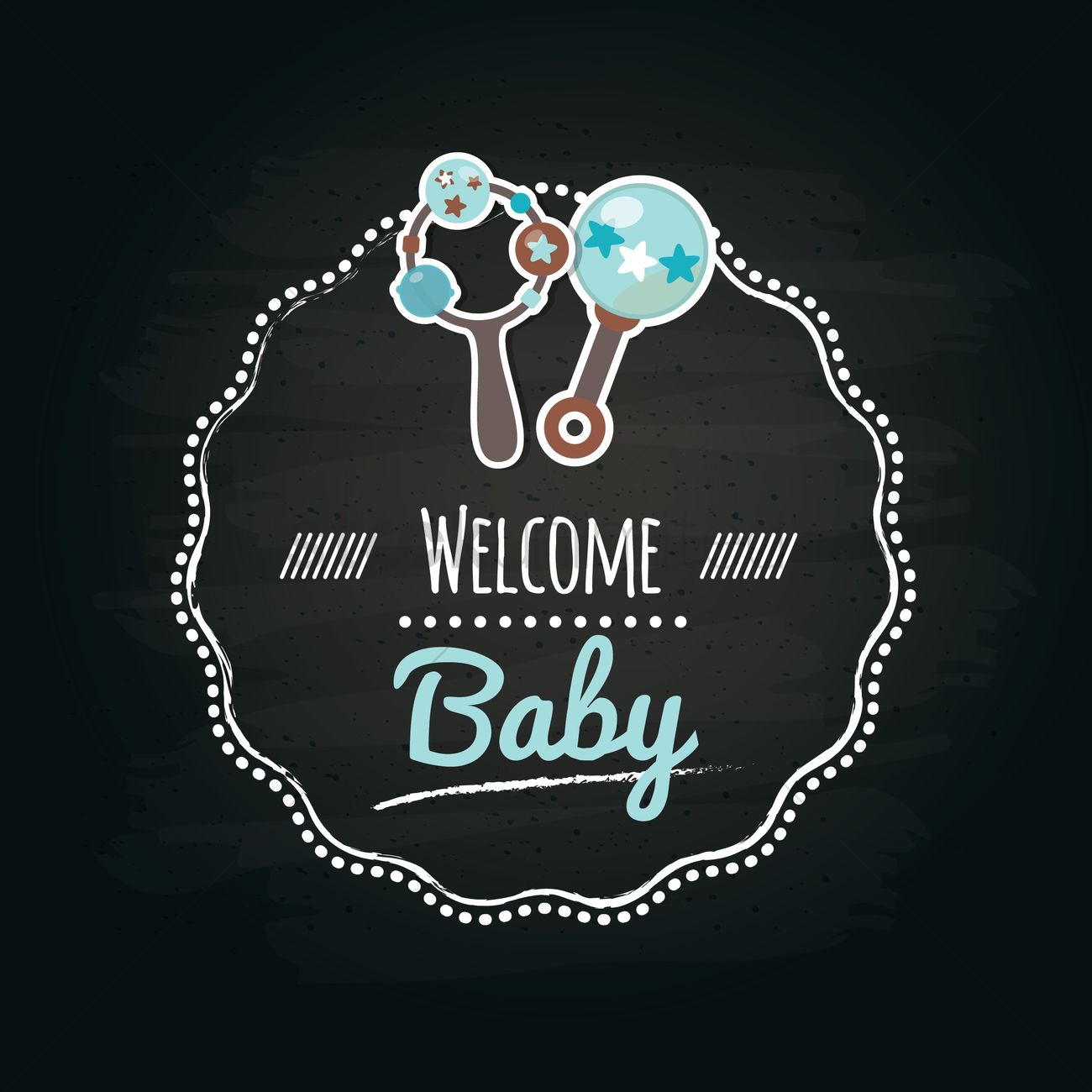 welcome baby label vector image 1617301 stockunlimited