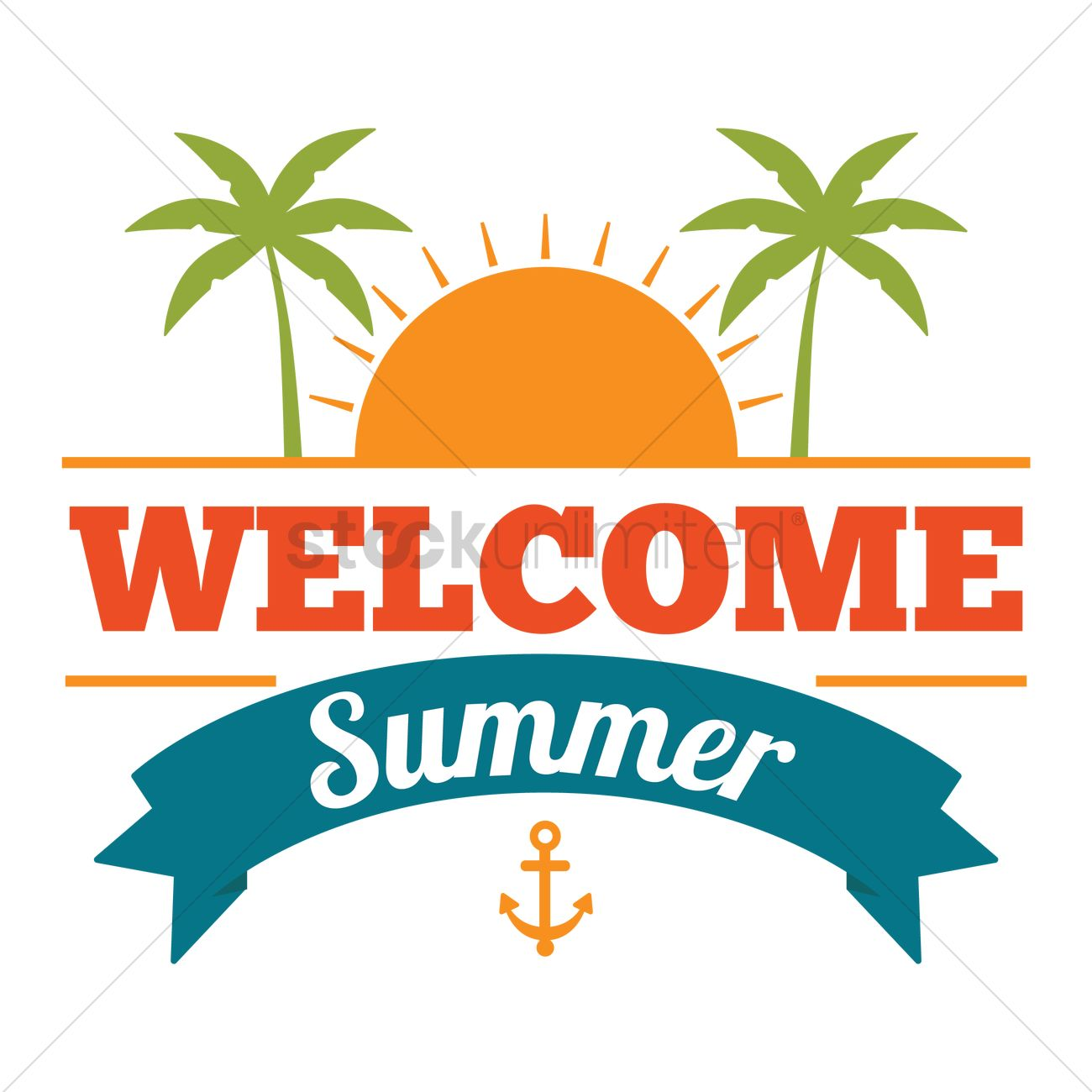 welcome summer design vector image 1809501 stockunlimited rh stockunlimited com