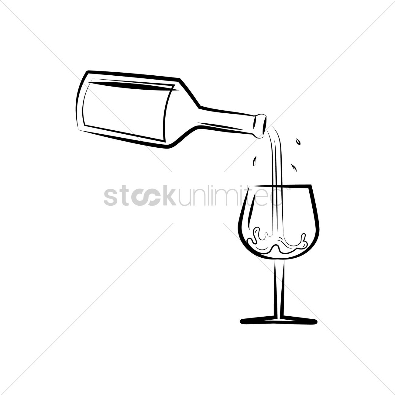 wine pouring into a glass vector image 1521777