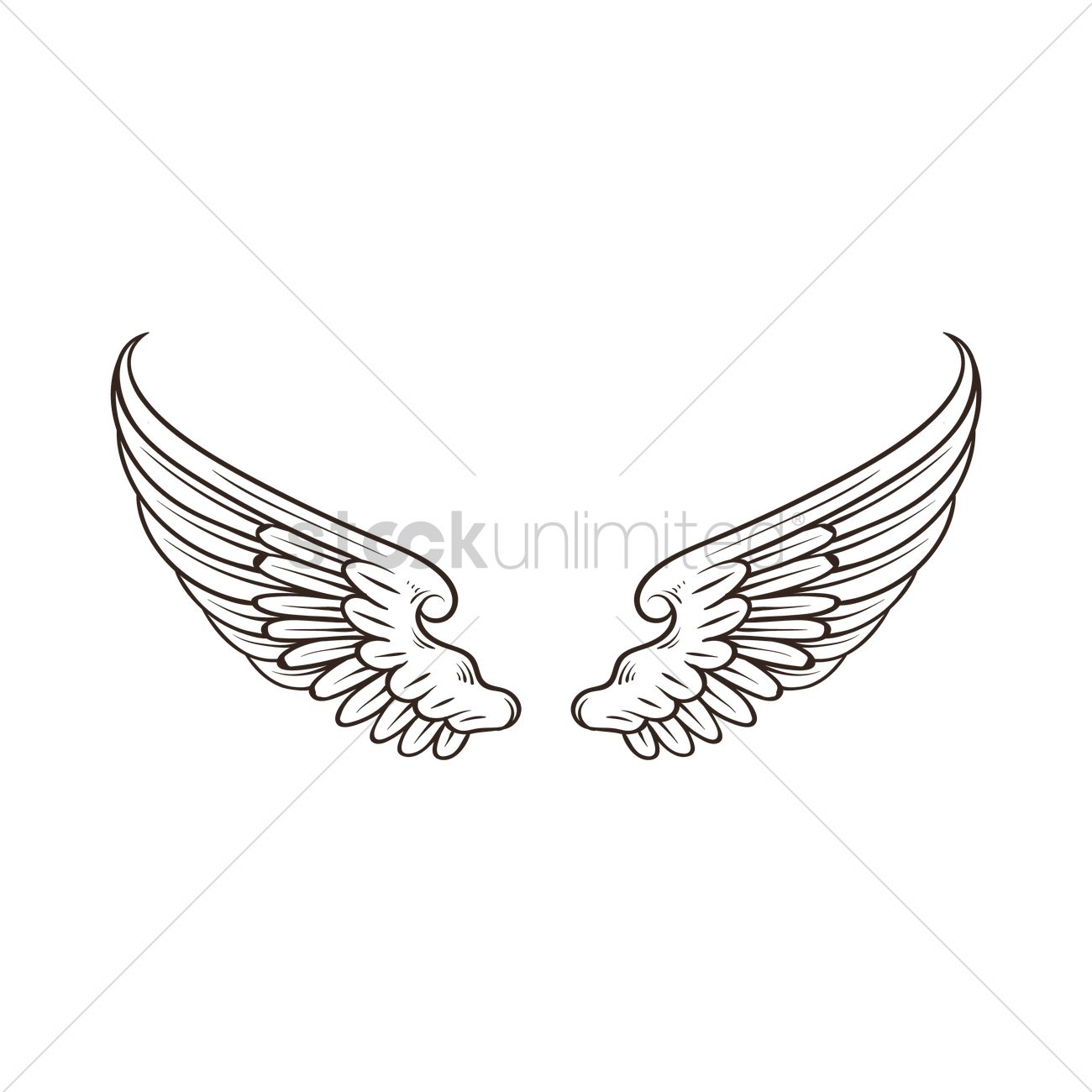 8d762132 Wings design Vector Image - 1873125 | StockUnlimited
