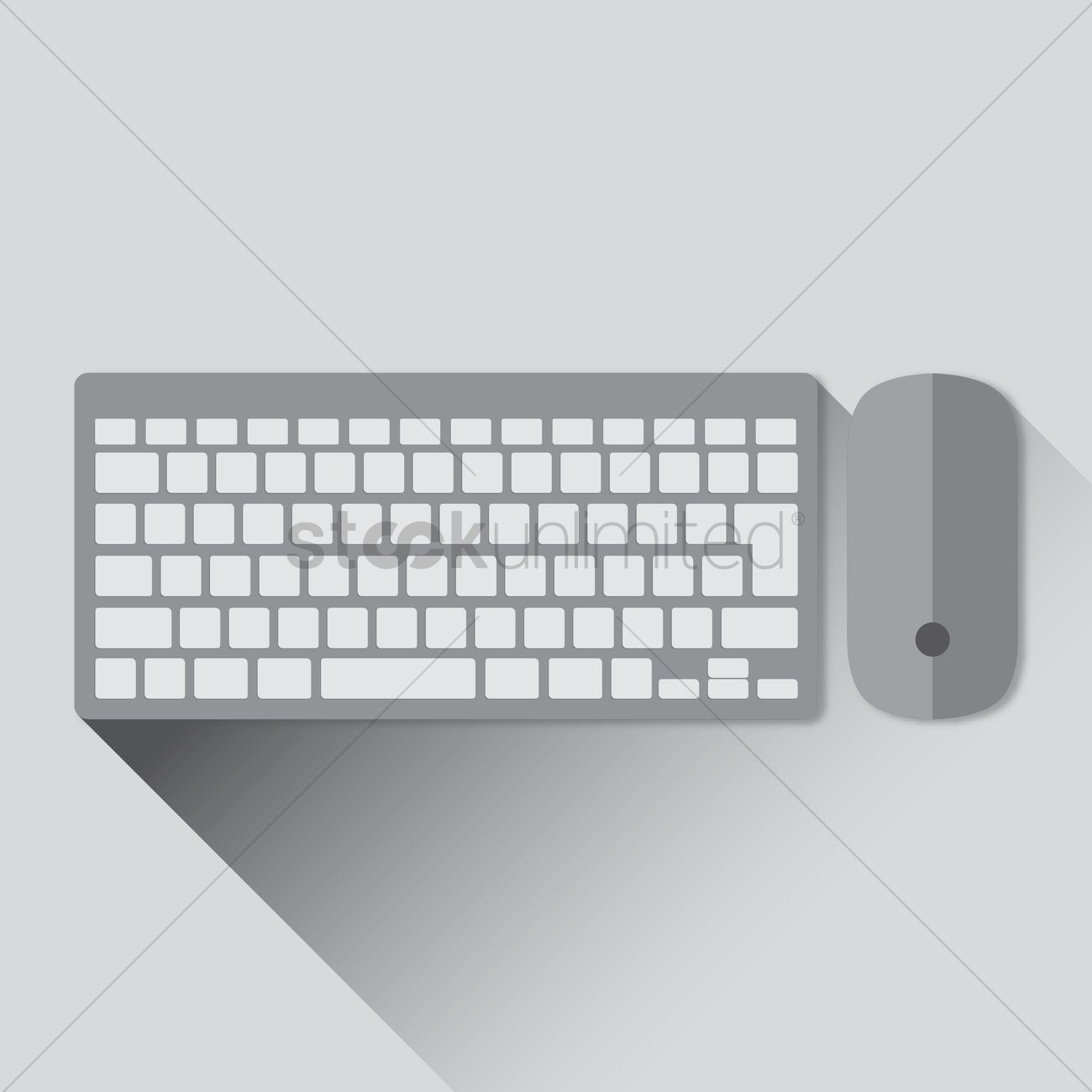Free Wireless keyboard and mouse Vector Image - 1271413