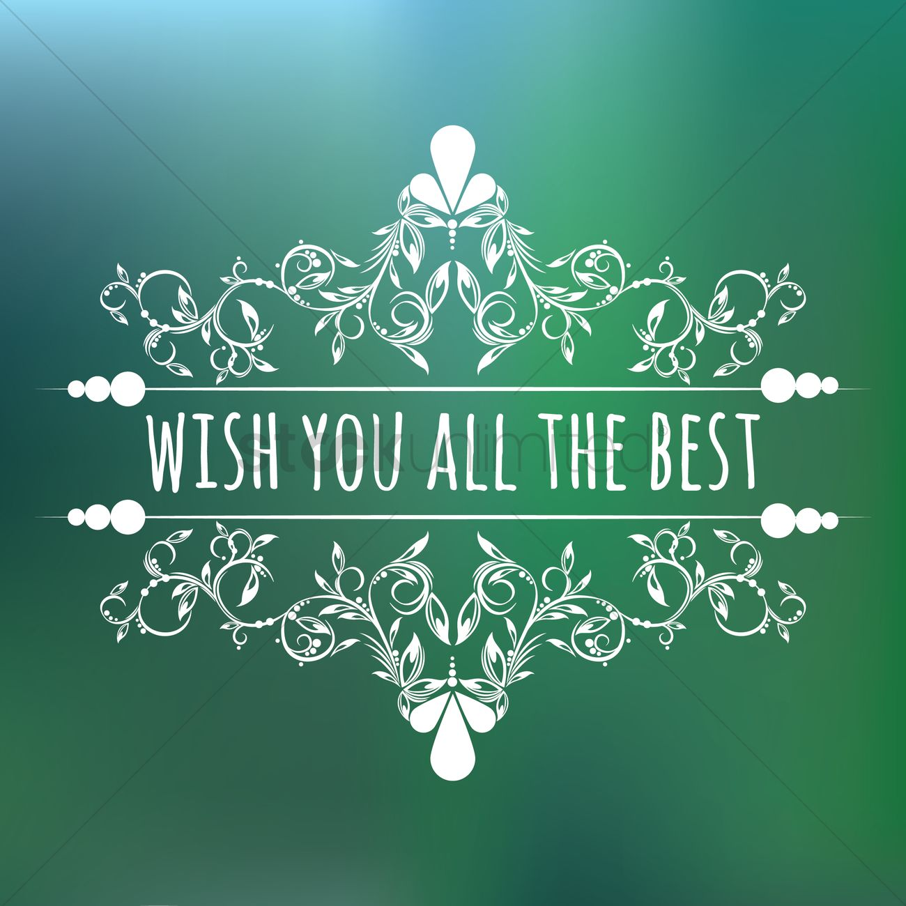 Free Wish You All The Best Vector Graphic