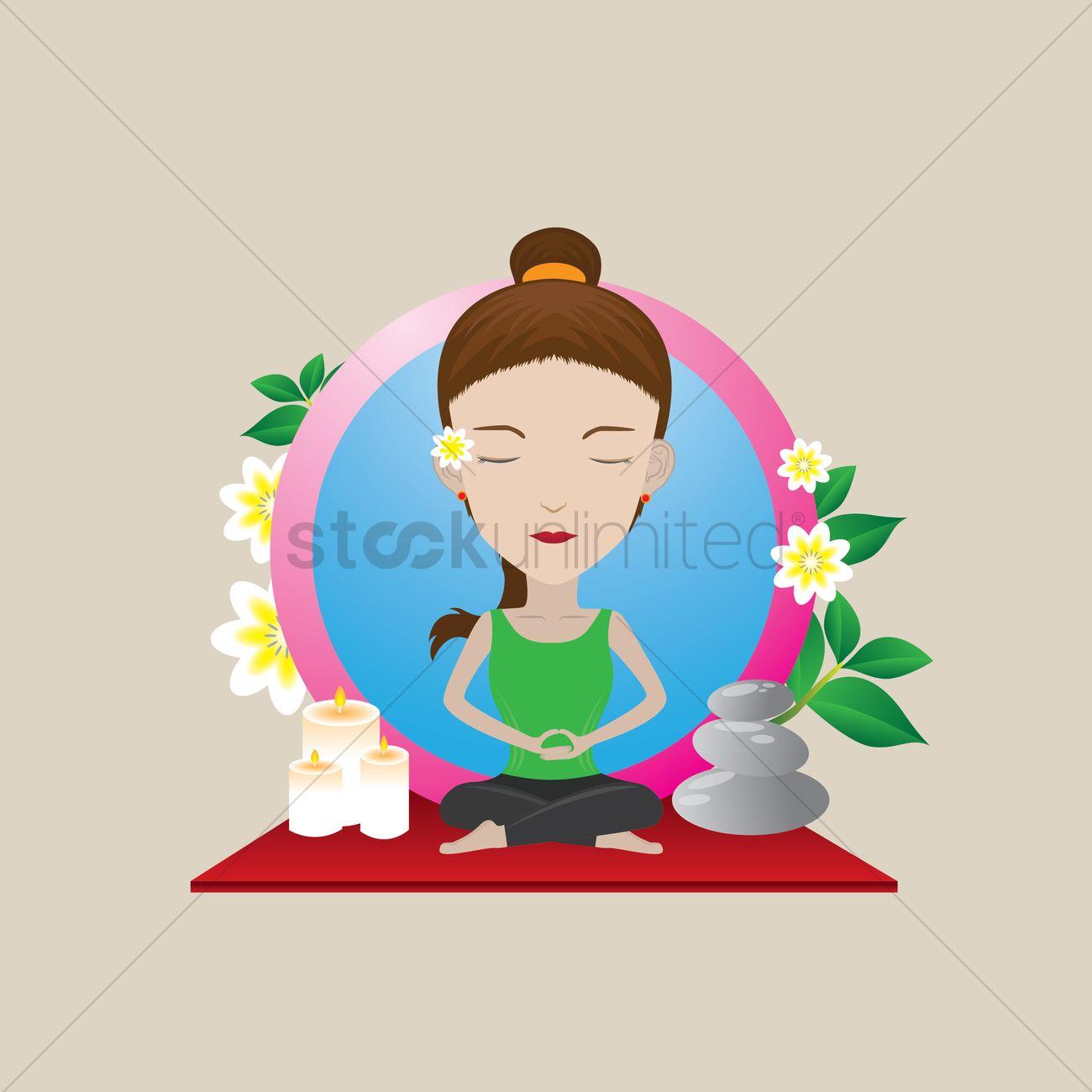 Free Woman Practicing Yoga In Lotus Pose Vector Image 1457813