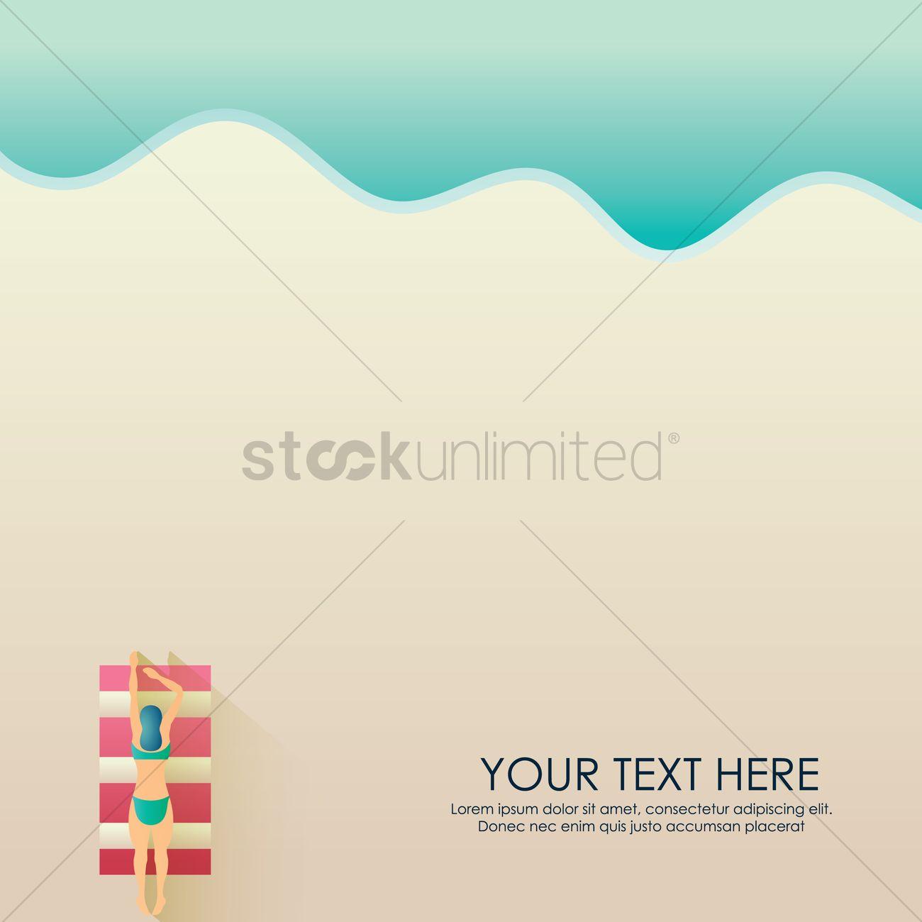 Woman Relaxing Wallpaper Vector Graphic