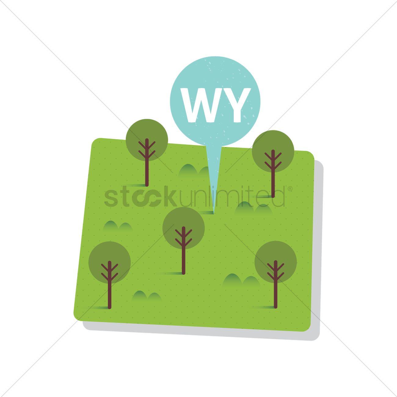 Free Wyoming State Map.Free Wyoming State Map Vector Image 1557093 Stockunlimited