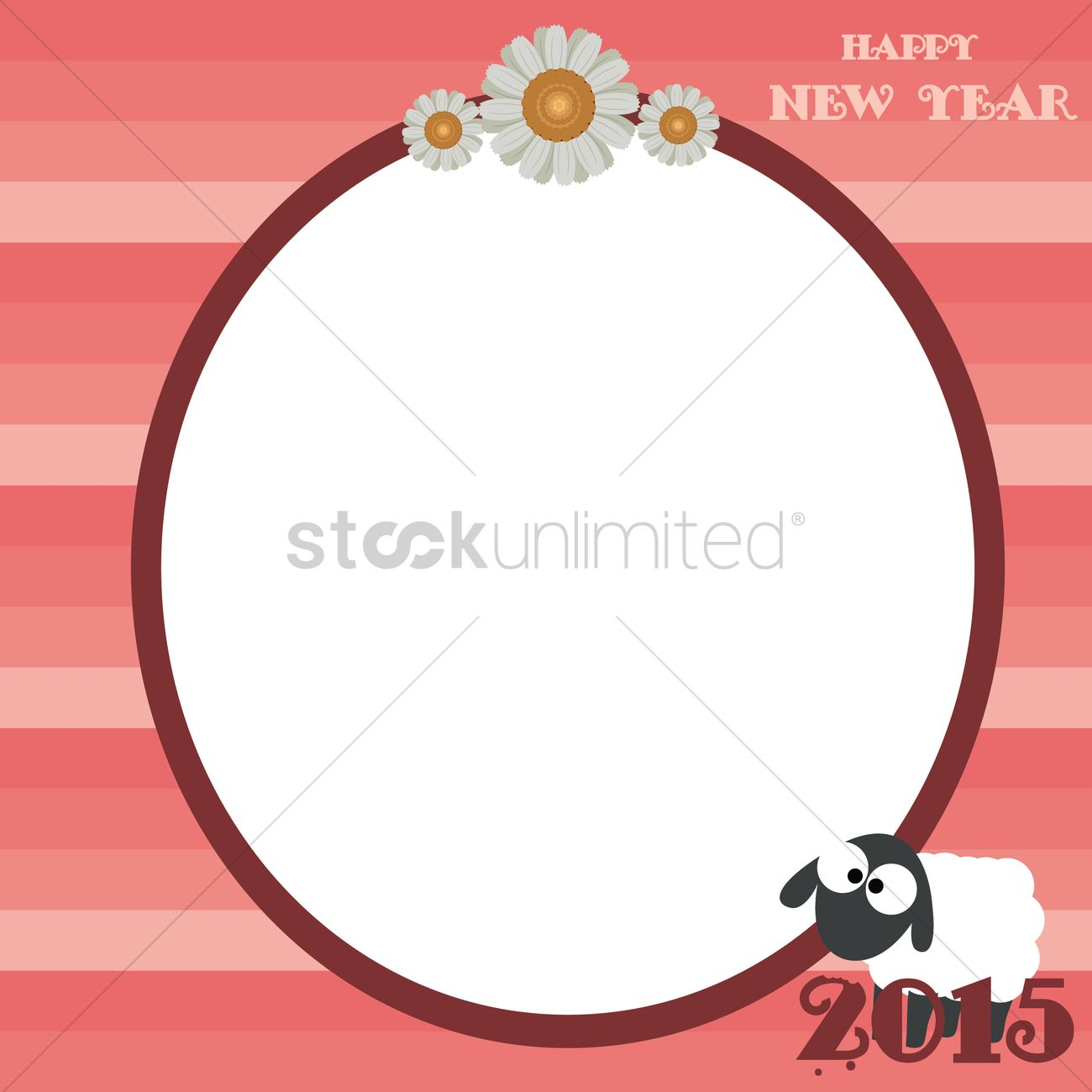 year of the goat template design vector graphic