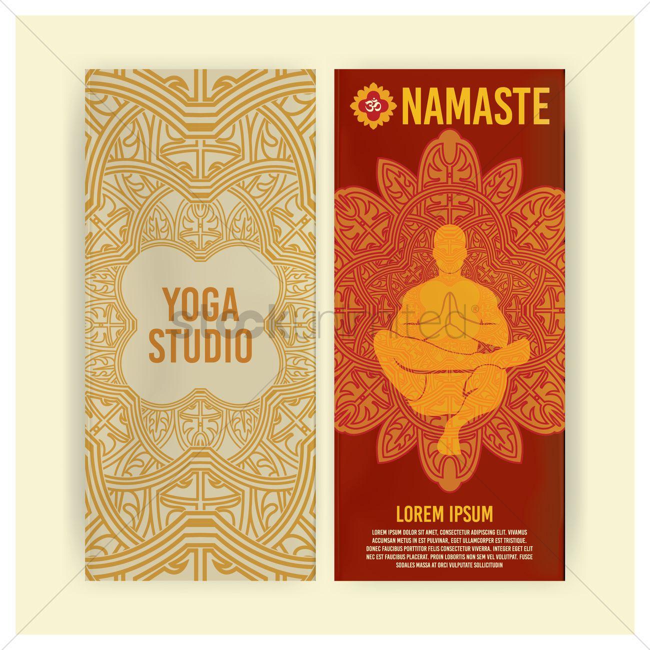 Yoga Brochure Vector Image 1825933 Stockunlimited