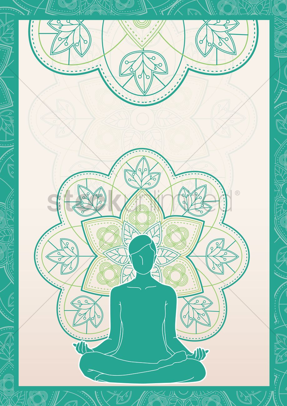 Yoga Poster Design Vector Graphic