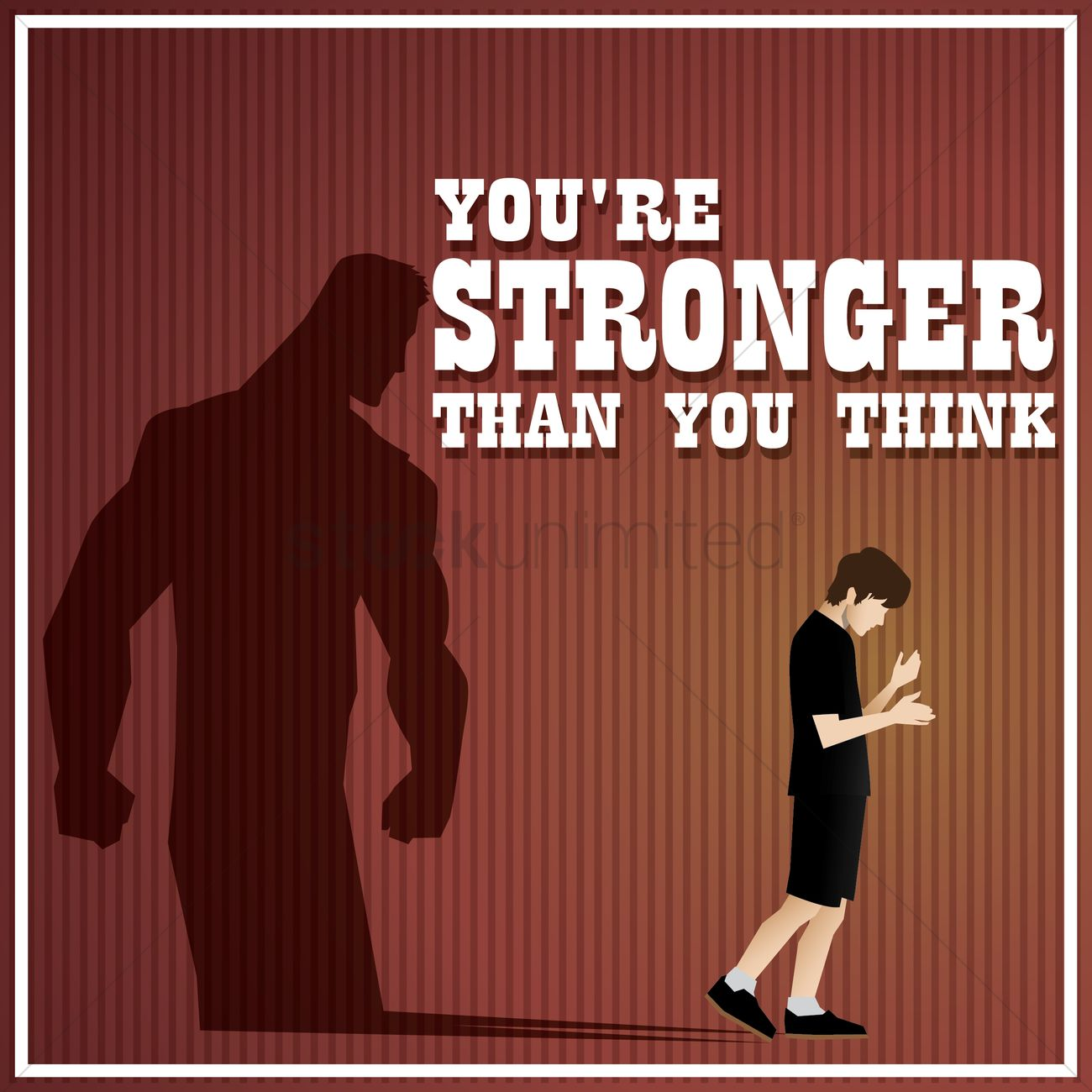 Youre Stronger Than You Think Quote Vector Image 1571265