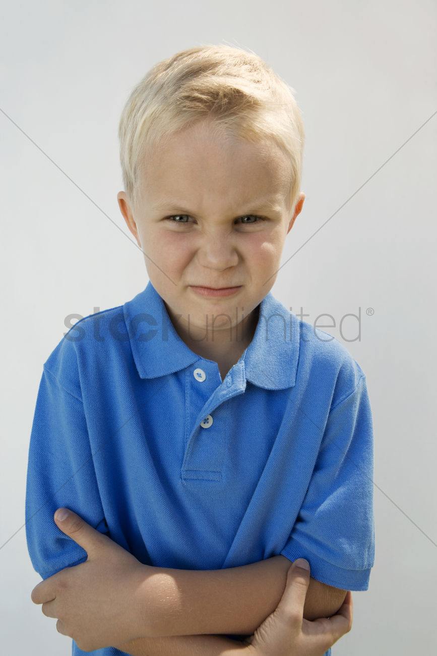 Young boy glaring Stock Photo - 1906689   StockUnlimited