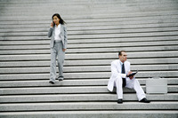 Popular : Business people at the staircase