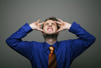Popular : Businessman having headache