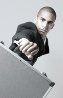 Popular : Businessman holding a briefcase