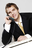 Popular : Businessman talking on the phone