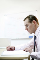 Popular : Businessman writing