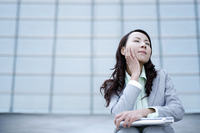 Popular : Businesswoman daydreaming