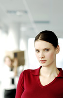 Popular : Businesswoman staring at the camera