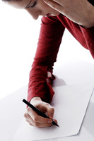 Popular : Businesswoman writing
