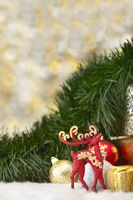 Christmas theme decoration with copy space