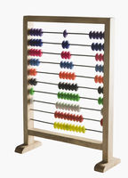 Close-up of an abacus