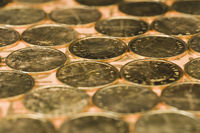 Close-up of indian coins