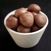 Popular : Close up of some red potatoes in a bowl