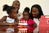 Popular : Family celebrating birthday together