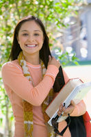 Female student smiling outdoors  portrait