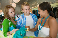 Popular : Friends shopping at clothing store