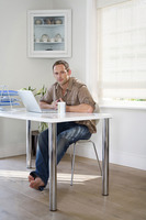 Man working in a home office