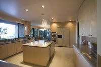 Open plan kitchen in neutral colours palm springs