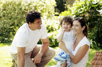 Popular : Parents and daughter in the park